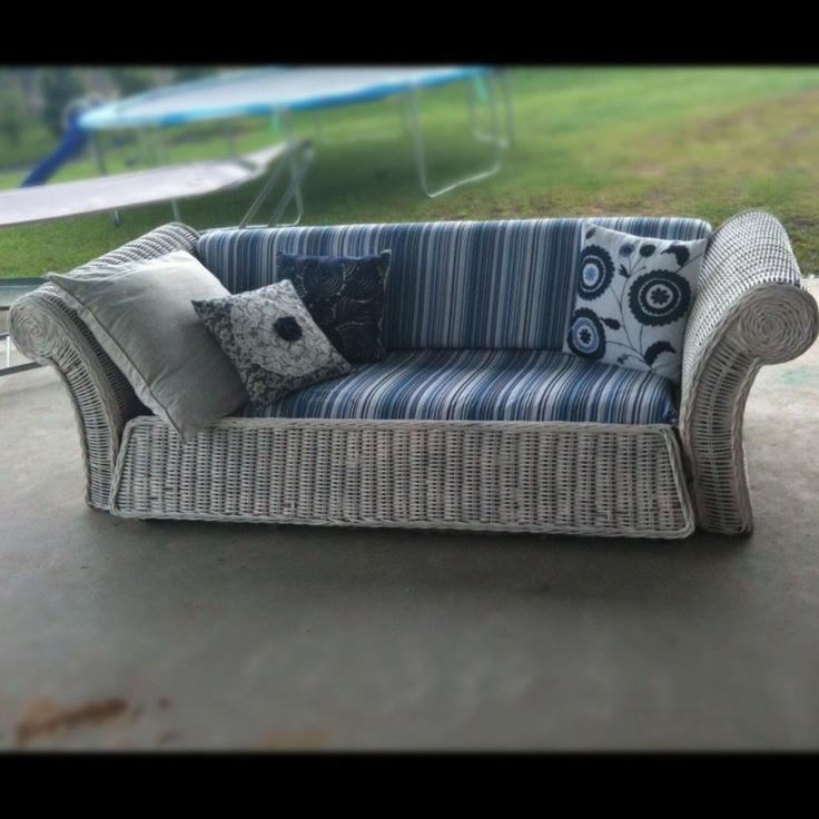 Cane lounge sofa Mika Alpaca and Design