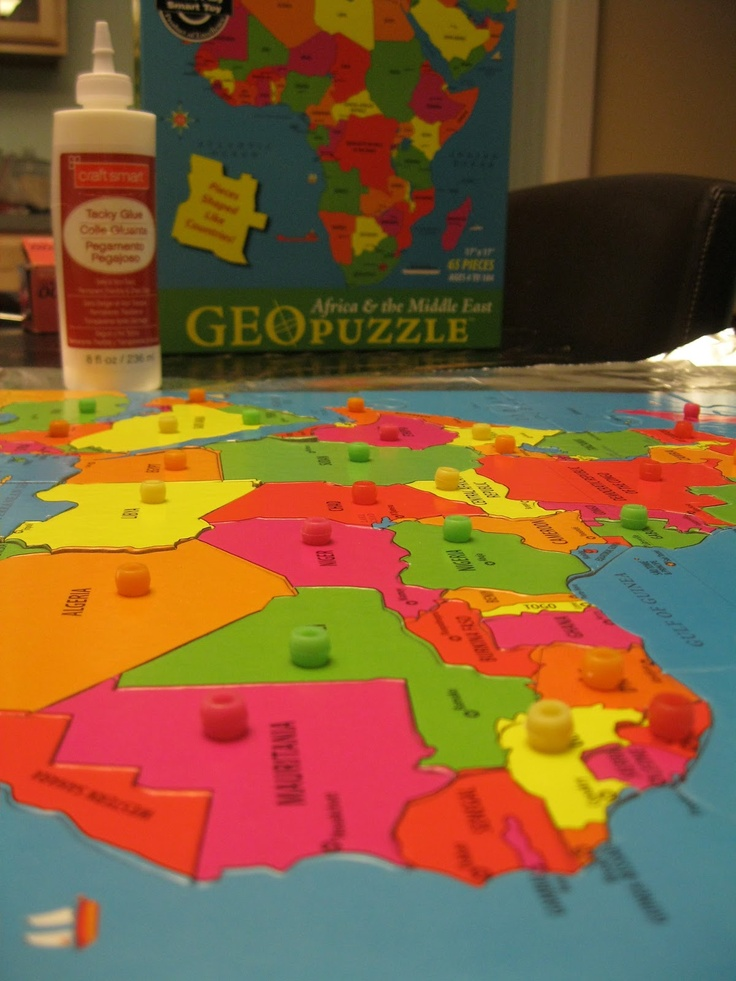 106 best kids geography activities images on pinterest geography montessori messy geography on the cheap part 2 diy puzzle maps gumiabroncs Image collections