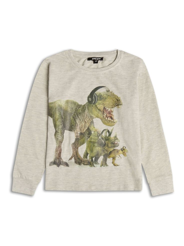 Boys Boutique Dinosaurs DJ Beats Long Sleeve Top - Baby Boutique Shop #boys_boutique_clothing