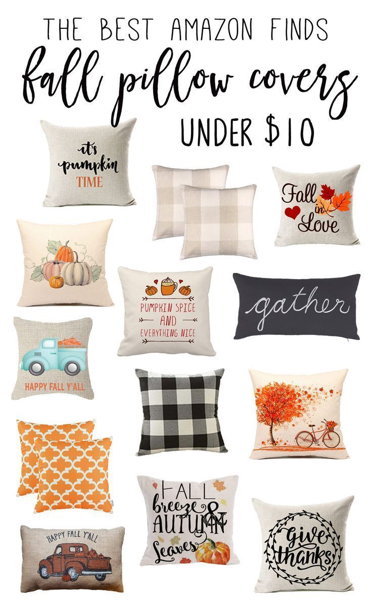 Best Fall Pillow Covers On Amazon Under 10 Super Affordable