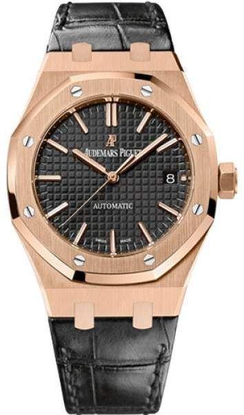 Audemars Piguet Royal Oak 15450OR.OO.D002CR.01 18K Pink Gold / Leather 37mm Mens Watch. Audemars Piguet watch – search for AP watch can be AP watch men, AP watch price, ap watch for sale or audemar watch.