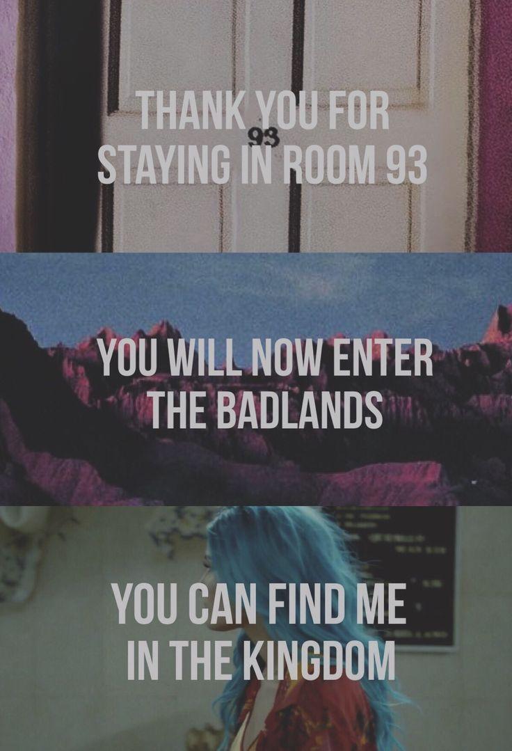 Room 93 badlands Hopeless fountain kingdom Halsey (made by @crueljokeonme)