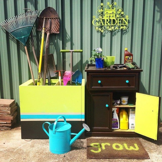 Get ready for Autumn with this cool DIY makeover. An old filing cabinet becomes new tool storage thanks to Dani Mezza!