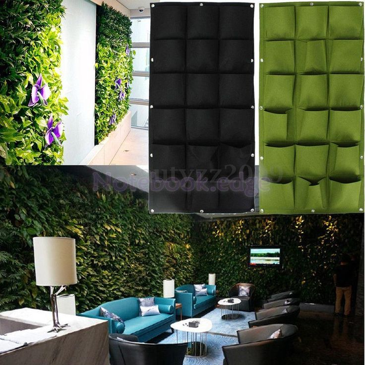 18 Pockets Vertical Garden Yard Planter Wall Plant Flower Grow Bag Felt GRN  ITEM    Check Out The Image By Visiting The Link.