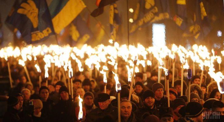 "#world #news  Memory of Ukraine's Stepan Bandera honored in Kyiv torchlight procession, ""Viche"" at Maidan  #FreeKarpiuk #FreeUkraine"