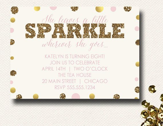 168 best Pink and Gold 1st Birthday Party Ideas images on - birthday invitation letter sample