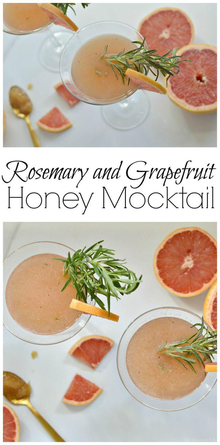 This rosemary and grapefruit honey mocktail is delicious and family friendly. My kids loved it as much as I did! | grapefruit recipes | recipes using grapefruit | homemade mocktail recipes | non-alcoholic drinks | how to make a mocktail at home | gluten f
