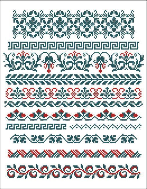 Borders cross-stitch