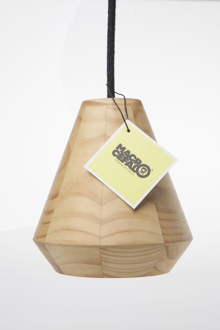 TROMPO Lamp. Designed by Camilo Cálad for Macrocéfalo Diseño. #lamp #light #design #wood #furniture #deco #diseño #lampara #madera #luz