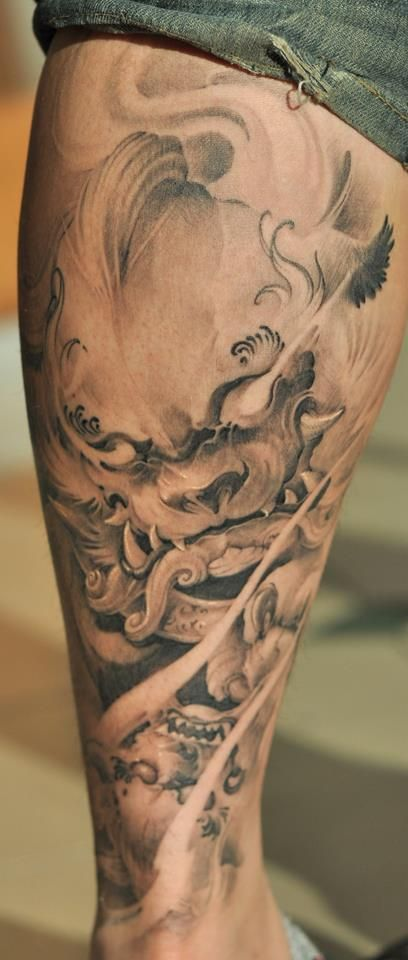 Chronic Ink Tattoo - Toronto Tattoo  Foo dog tattoo by Tristen.