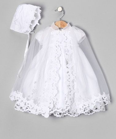 Take a look at this White Eyelet Bow Dress Set - Infant, Toddler & Girls by Lida, One Small Child & LA Sun on #zulily today!