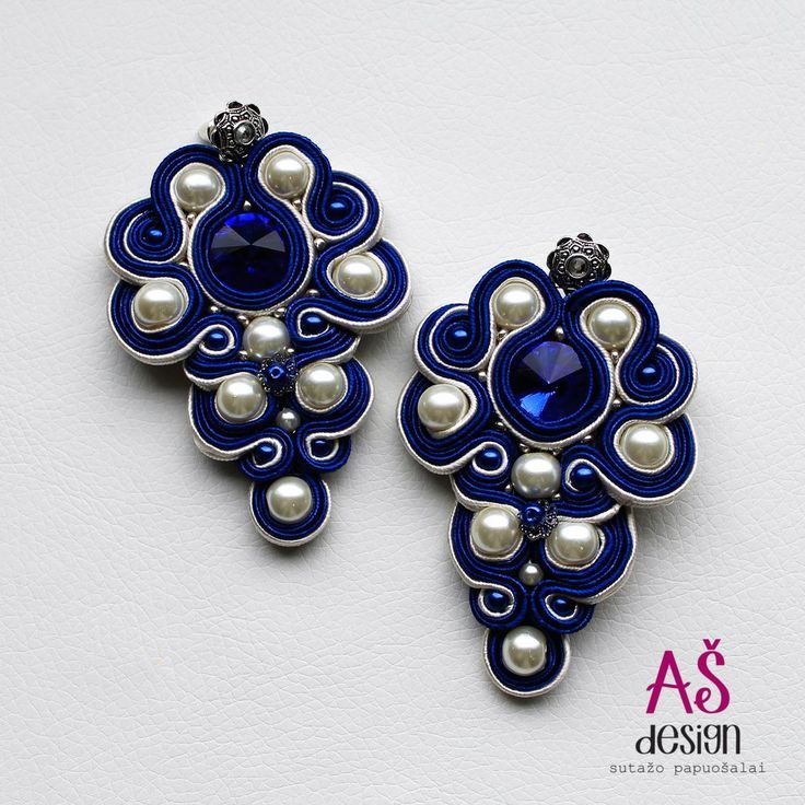 nice AŠ design Soutache Jewellery 2015 - luxury soutache earrings...