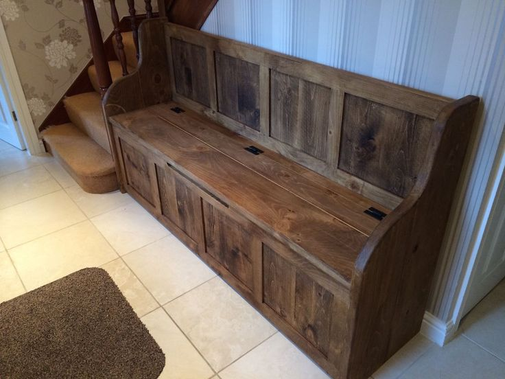 6 ft rustic #plank style #monks bench/settle/pew with storage (made to any #size), View more on the LINK: http://www.zeppy.io/product/gb/2/272141562406/
