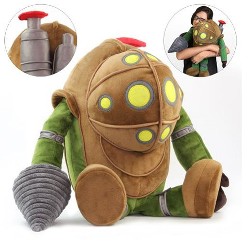This BioShock Big Daddy Plush is a lot more lovable than the real thing. It looks just like Big Daddy from the BioShock video game series! He stands about 17-in