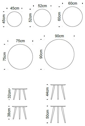 Round Table Dimensions Google Search Dimensions