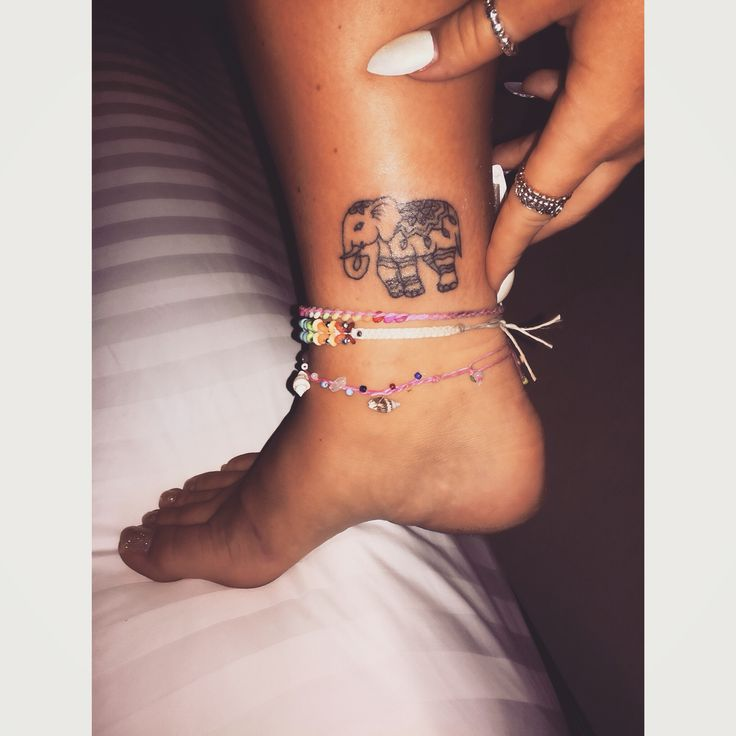 Traditional elephant bamboo tattoo done in Thailand. Mr tattoo Krabi is a must go to !