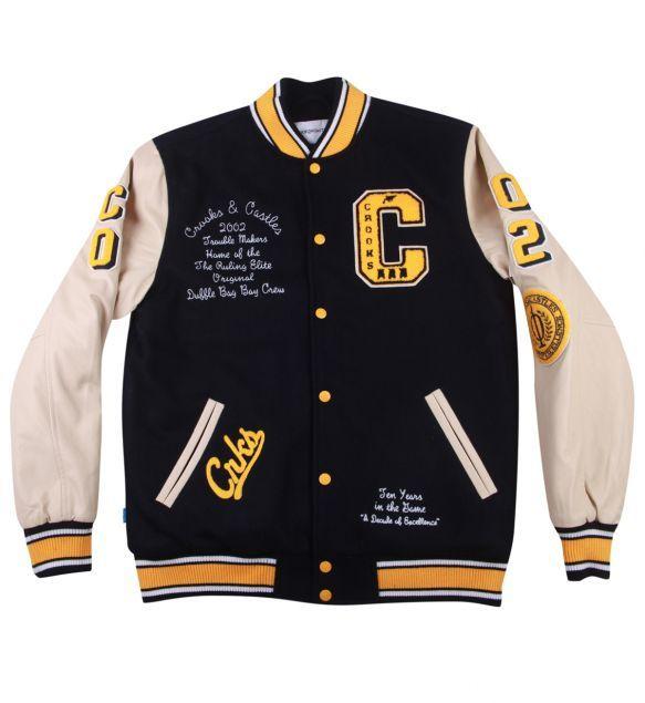 Crooks And Castles Decadent Letterman Varsity Jacket Dark