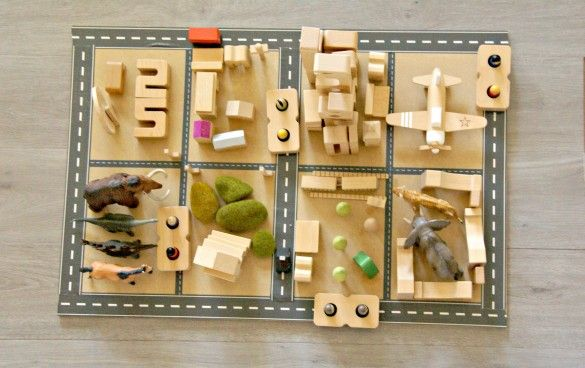 Sumblox are fabulous number blocks that can be used for pretend play and STEM activities. Here's a map of Melbourne by a preschooler.