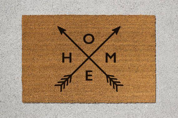 Fußmatte Home Fussmatte Heimat willkommene Matte von TheDoormatory