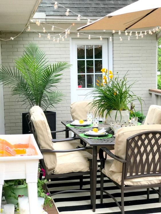 Cream Colored Patio Haven For Outdoor Entertaining