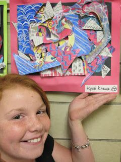 Lake and Hartville Elementary Art: 5th Grade ABSTRACT STELLA SCULPTURES