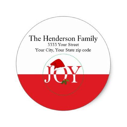 joy christmas return address labels christmas stickers pinterest