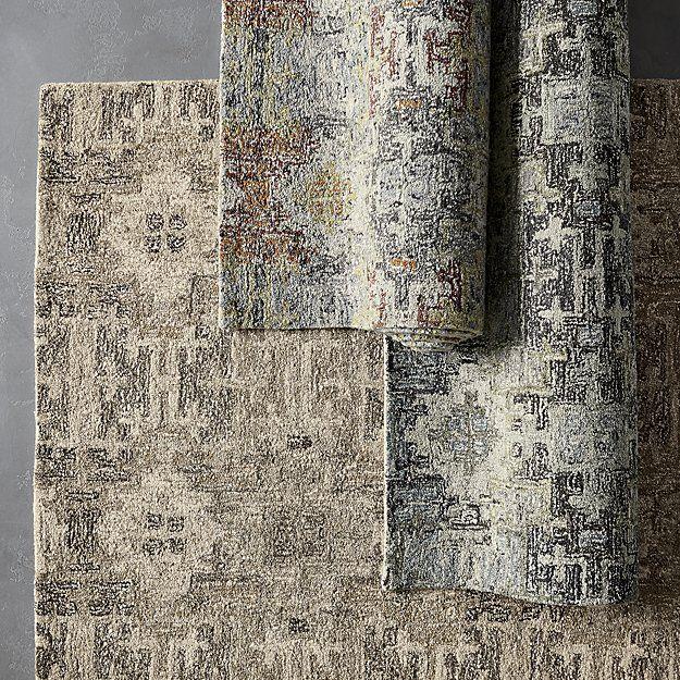 Alvarez Natural Wool-Blend Rug | Crate and Barrel