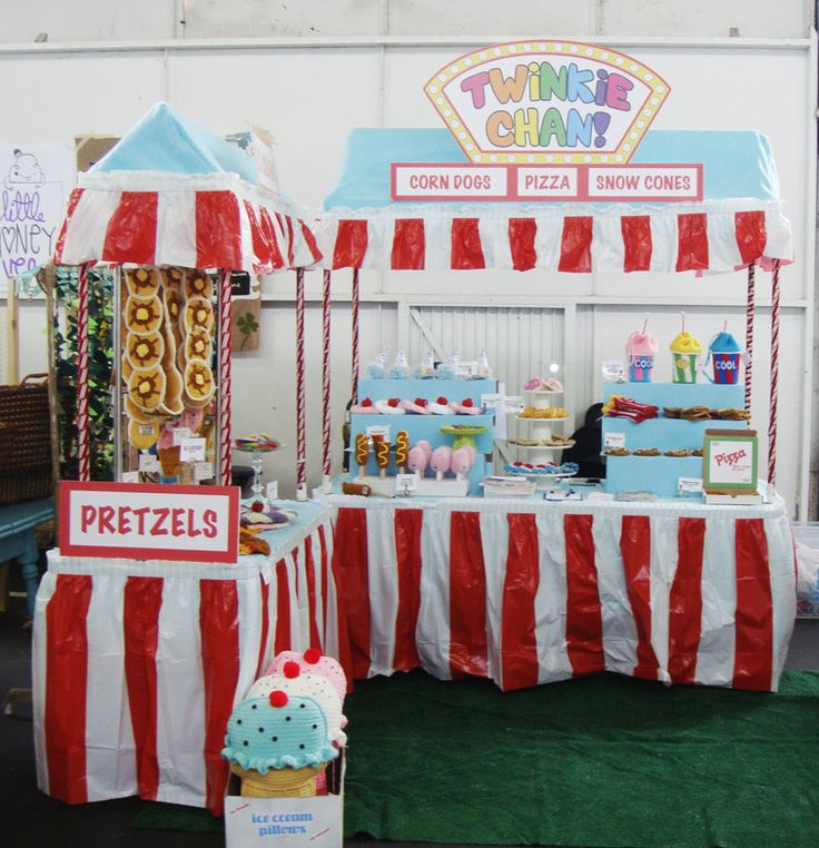 A truly original carnival-themed craft booth