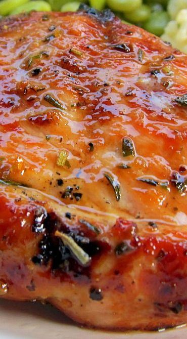Grilled Honey Rosemary Pork Chops Recipe