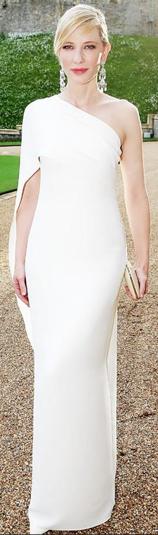 uncategorized  Who made Cate Blanchetts white gown?