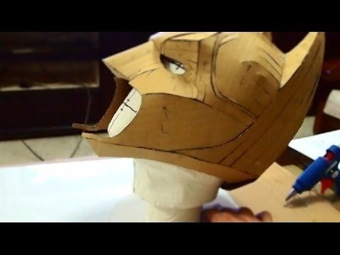 #23: Batman Cowl DIY 1/3 - cardboard, cut & hot glue (with template) this guy has a whole series of masks