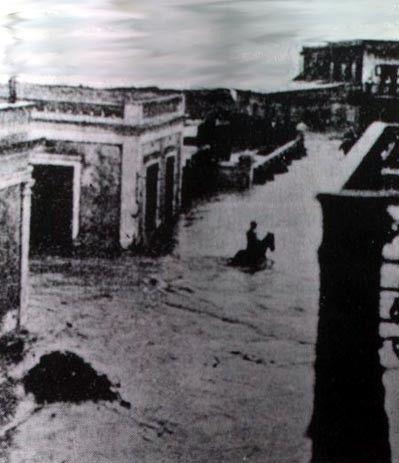 Eventos del siglo 19-Puerto Rico del ayer- Inundación- Arecibo Ocasionada por huracan San Ciriaco