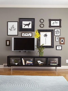 Gallery Wall that INCLUDES the TV.  So it's not just a tv on the wall.