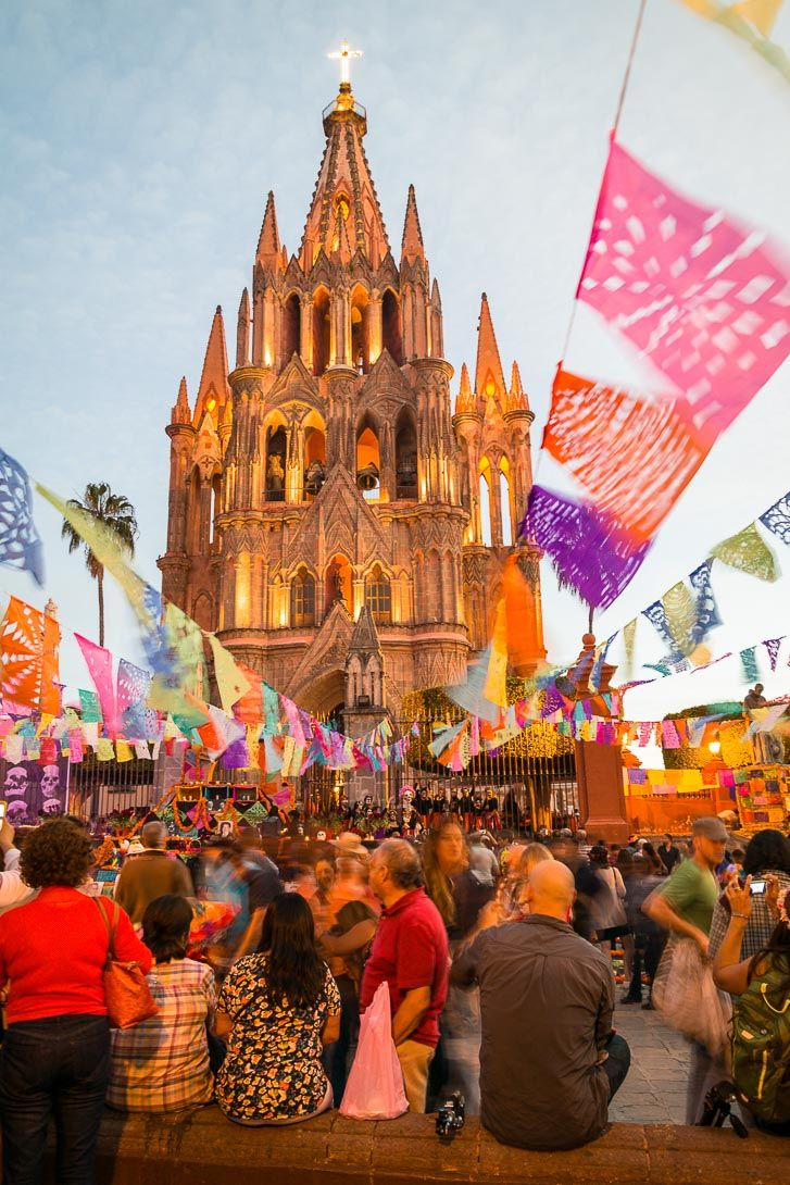 A week in San Miguel de Allende experiencing the colourful faces the quirky people and the bizarre festival that's been around for thousands of years. It's the Day of the Dead or Dia de Los Muertos.