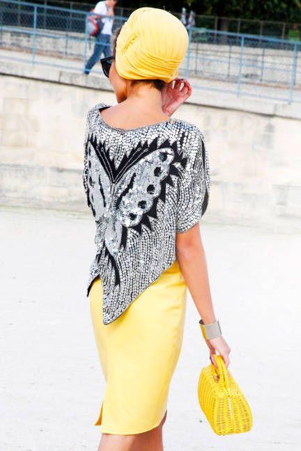 Paris Street Style 2012 - Paris Fashion Week Spring 2013 Style - ELLE   I love the blouse.
