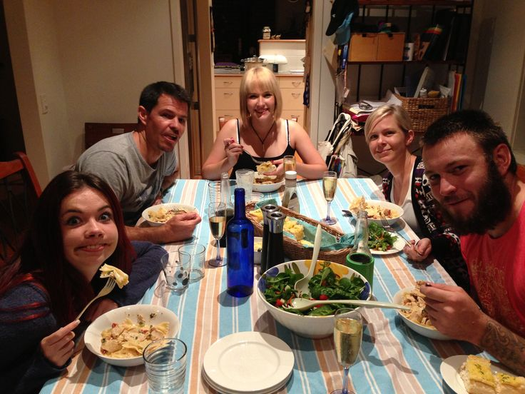 Around the dinner table with the kids x