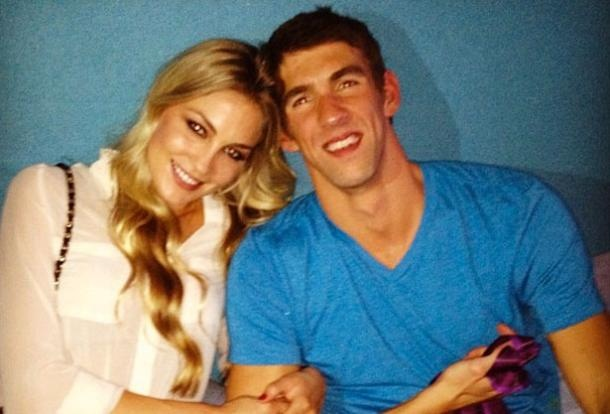 Michael Phelps and Girlfriend Megan Rossee NO NO NO NO NO NO NO NO NO NO NO HE IS NOT ALLOWED TO HAVE A GIRLFRIEND!!!!