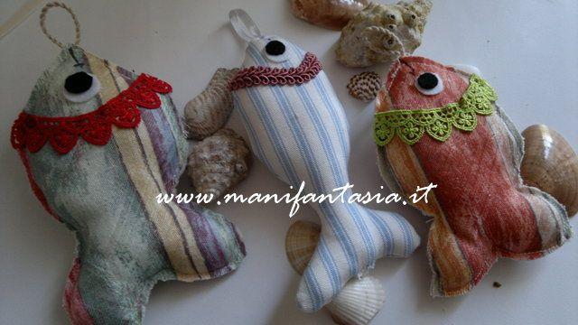 pesci di stoffa cucito creativo