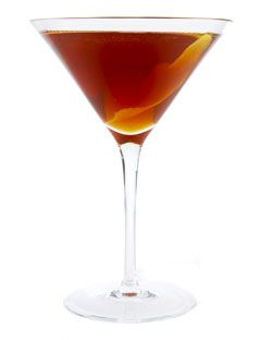• 2 ounces rye whisky  • 1 ounce Italian vermouth  • 2 dashes Angostura bitters  • Shake the rye, vermouth, and bitters well with cracked ice. Strain into in a chilled cocktail glass and garnish with twist or, of course, maraschino cherry