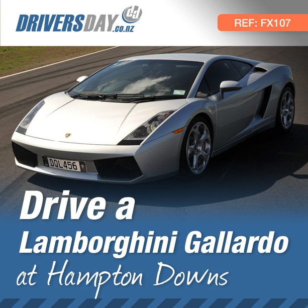 From $399, driving a Lamborghini Gallardo at Hampton Downs is a great gift for men or women. A look inspired by modern fighter jets, the Gallardo features large air intakes ensuring the mighty V10 engine gets the cool air it needs to pump out 500 bhp (372 kW).