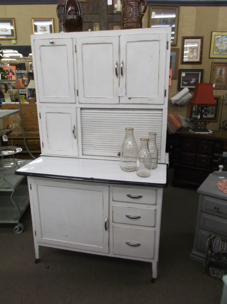 980 best images about antique hoosier cabinets and for Antique look kitchen cabinets