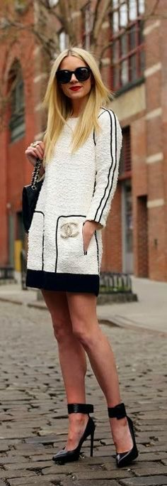 Sex and the City Street fashion ....chanel pin