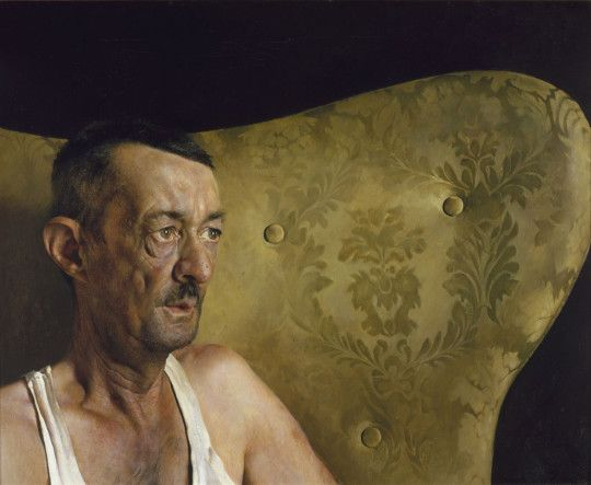 "Wyeth's 1963 painting ""Portrait of Shorty."" (© Jamie Wyeth. Courtesy, Museum of Fine Arts, Boston)"