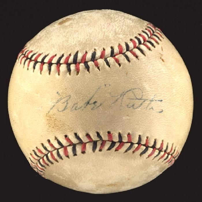 Babe Ruth Autographed Baseball JSA Official League Baseball autographed by Babe Ruth New York Yankees star Babe Ruth autographed baseball. Incredible single signed Babe Ruth baseball circa 1920 21 He