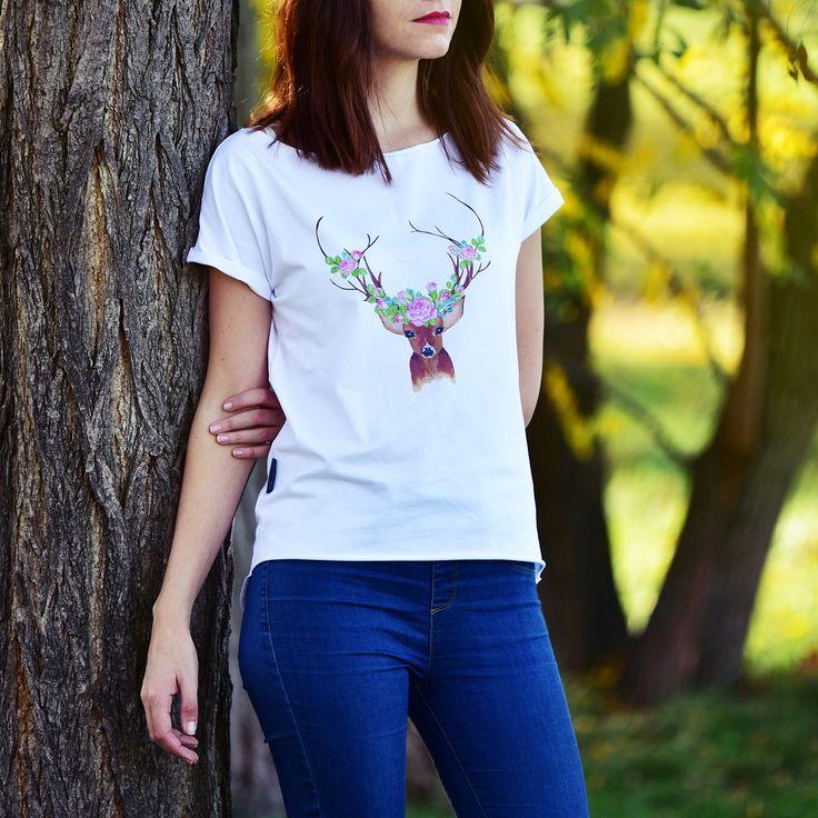 bílé tričko s jelínkem8