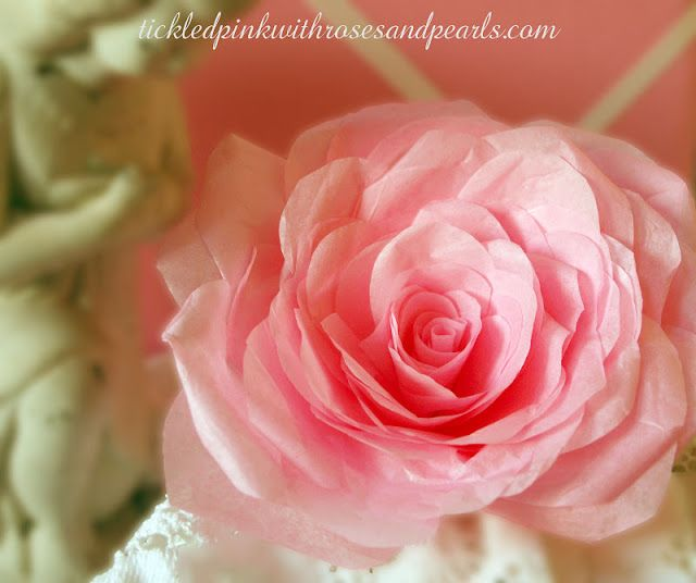 Tickled Pink: More Tissue Paper Roses...