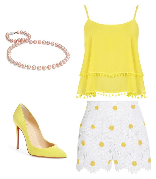 """""""Untitled #50"""" by erikaelena23 on Polyvore featuring WearAll, Christian Louboutin, Dolce&Gabbana and Blue Nile"""