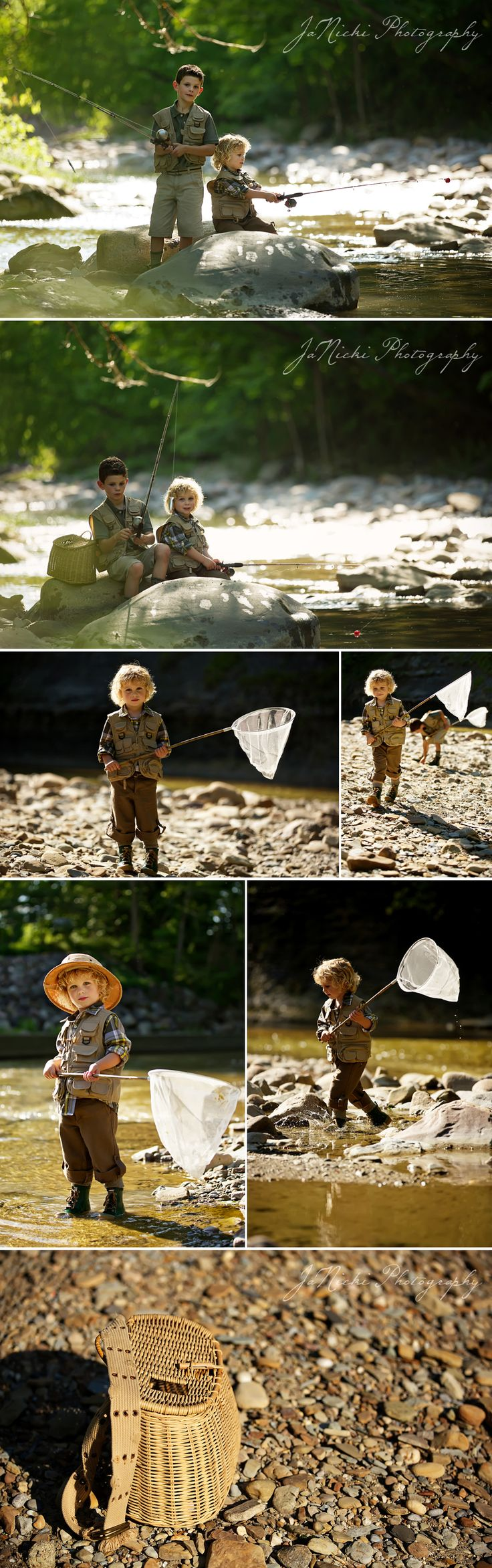 whoa....totally love this....if only my boys would consider doing a session like this one!!    Connor & Brady | River Runs Through It Styled Photo Session