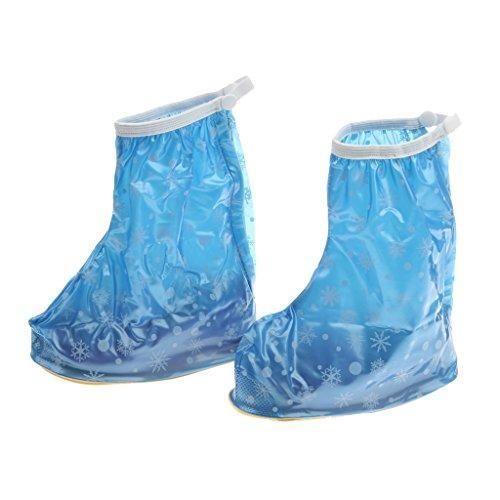Oferta: 3.51€. Comprar Ofertas de Zapatos Botas de Lluvia PVC Reutilizables Impermeable Cubren Copo de Nieve Portátil para Niños Niñas - Azul, XL barato. ¡Mira las ofertas!