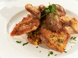 Roasted Game Hen with Toulouse Sausage and Cassoulet from CookingChannelTV.com
